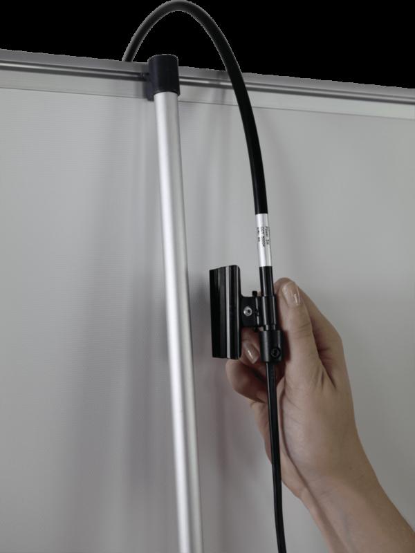 Slimline LED spotlight for banner stands
